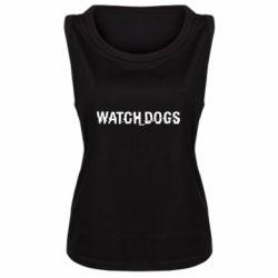 Женская майка Watch Dogs text