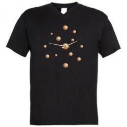 Чоловіча футболка з V-подібним вирізом Watches with gradient