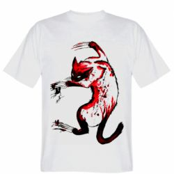 Мужская футболка Watercolor Aggressive Cat