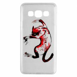 Чехол для Samsung A3 2015 Watercolor Aggressive Cat
