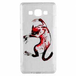 Чехол для Samsung A5 2015 Watercolor Aggressive Cat