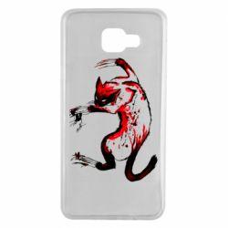 Чехол для Samsung A7 2016 Watercolor Aggressive Cat