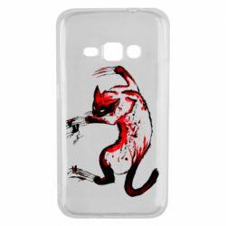 Чехол для Samsung J1 2016 Watercolor Aggressive Cat