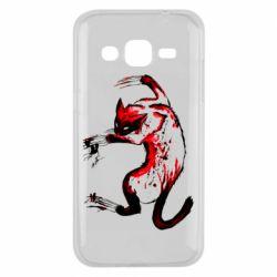 Чехол для Samsung J2 2015 Watercolor Aggressive Cat