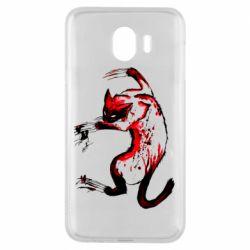 Чехол для Samsung J4 Watercolor Aggressive Cat