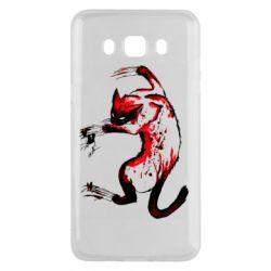 Чехол для Samsung J5 2016 Watercolor Aggressive Cat