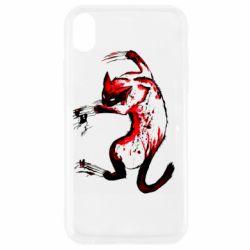 Чехол для iPhone XR Watercolor Aggressive Cat