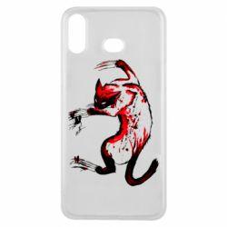 Чехол для Samsung A6s Watercolor Aggressive Cat