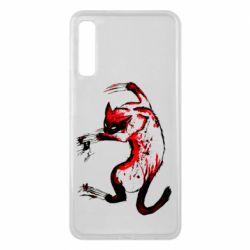 Чехол для Samsung A7 2018 Watercolor Aggressive Cat