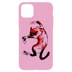 Чехол для iPhone 11 Watercolor Aggressive Cat