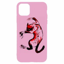 Чехол для iPhone 11 Pro Watercolor Aggressive Cat