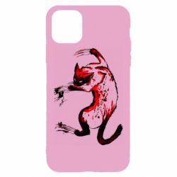 Чехол для iPhone 11 Pro Max Watercolor Aggressive Cat