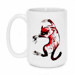 Кружка 420ml Watercolor Aggressive Cat