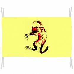 Флаг Watercolor Aggressive Cat