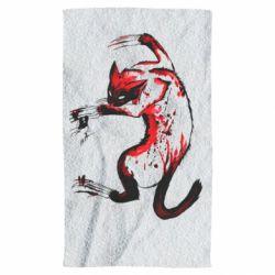Полотенце Watercolor Aggressive Cat