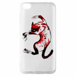 Чехол для Xiaomi Redmi Go Watercolor Aggressive Cat