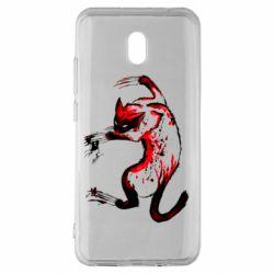 Чехол для Xiaomi Redmi 8A Watercolor Aggressive Cat