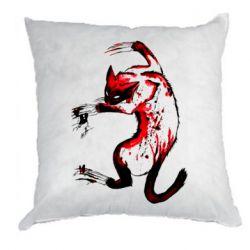 Подушка Watercolor Aggressive Cat