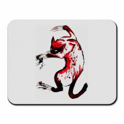 Коврик для мыши Watercolor Aggressive Cat