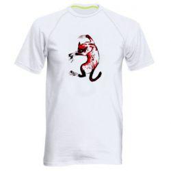 Мужская спортивная футболка Watercolor Aggressive Cat