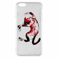 Чехол для iPhone 6 Plus/6S Plus Watercolor Aggressive Cat