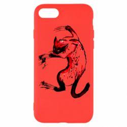 Чехол для iPhone 7 Watercolor Aggressive Cat