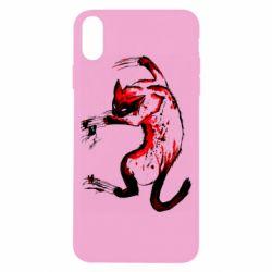 Чехол для iPhone X/Xs Watercolor Aggressive Cat