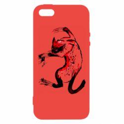 Чехол для iPhone5/5S/SE Watercolor Aggressive Cat