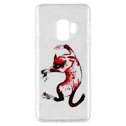 Чехол для Samsung S9 Watercolor Aggressive Cat