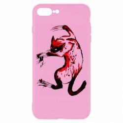 Чехол для iPhone 8 Plus Watercolor Aggressive Cat