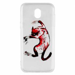 Чехол для Samsung J5 2017 Watercolor Aggressive Cat