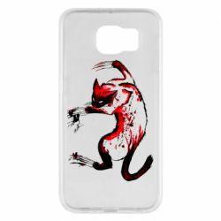 Чехол для Samsung S6 Watercolor Aggressive Cat