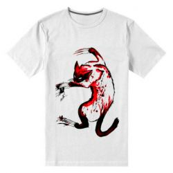 Мужская стрейчевая футболка Watercolor Aggressive Cat