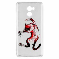 Чехол для Xiaomi Redmi 4 Watercolor Aggressive Cat
