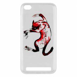 Чехол для Xiaomi Redmi 5A Watercolor Aggressive Cat