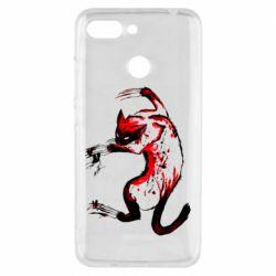 Чехол для Xiaomi Redmi 6 Watercolor Aggressive Cat