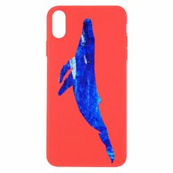 Чохол для iPhone Xs Max Watercolor blue whale