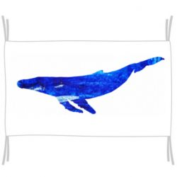Прапор Watercolor blue whale