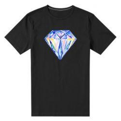 Мужская стрейчевая футболка Watercolor diamond