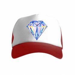 Детская кепка-тракер Watercolor diamond