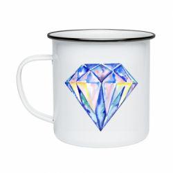 Кружка эмалированная Watercolor diamond