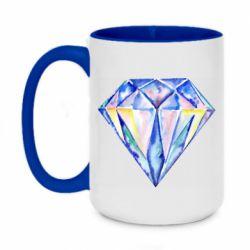 Кружка двухцветная 420ml Watercolor diamond