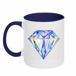 Кружка двухцветная 320ml Watercolor diamond