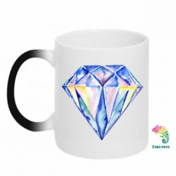 Кружка-хамелеон Watercolor diamond
