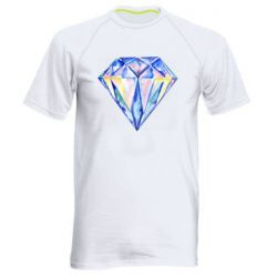 Мужская спортивная футболка Watercolor diamond