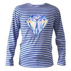 Тельняшка с длинным рукавом Watercolor diamond