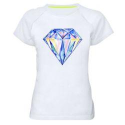 Женская спортивная футболка Watercolor diamond