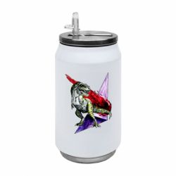 Термобанка 350ml Watercolor Dino