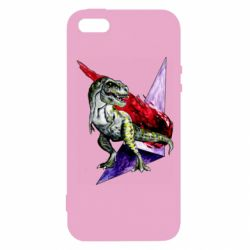 Чехол для iPhone5/5S/SE Watercolor Dino