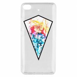 Чехол для Xiaomi Mi 5s Watercolor flower in a geometric frame